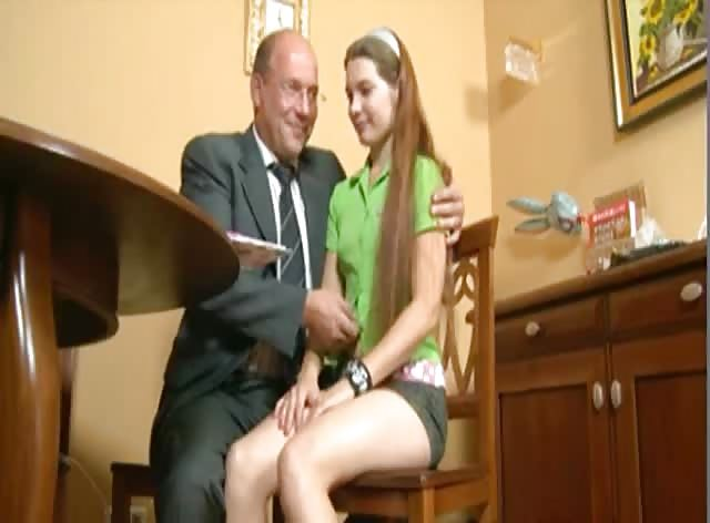 Russian Schoolgirl and her Teacher