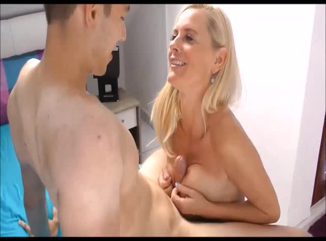 Slutty Milf Takes His Virginity