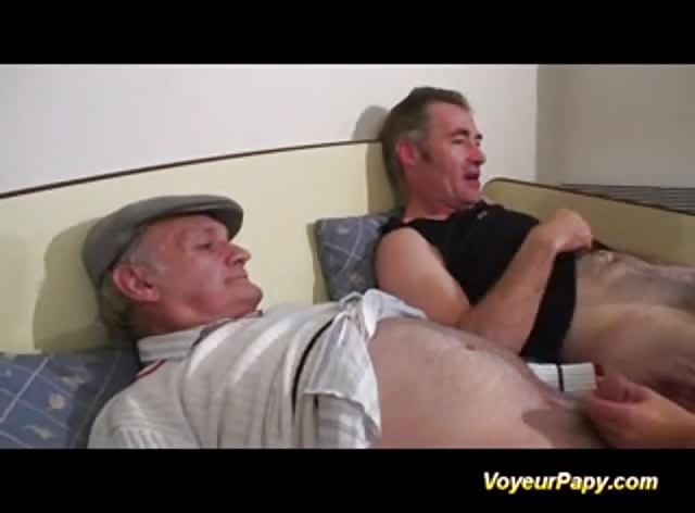 Teen Chick fucks Two Grandpas