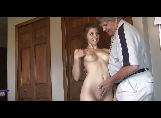 Young Housecleaner Nailed by Older Man