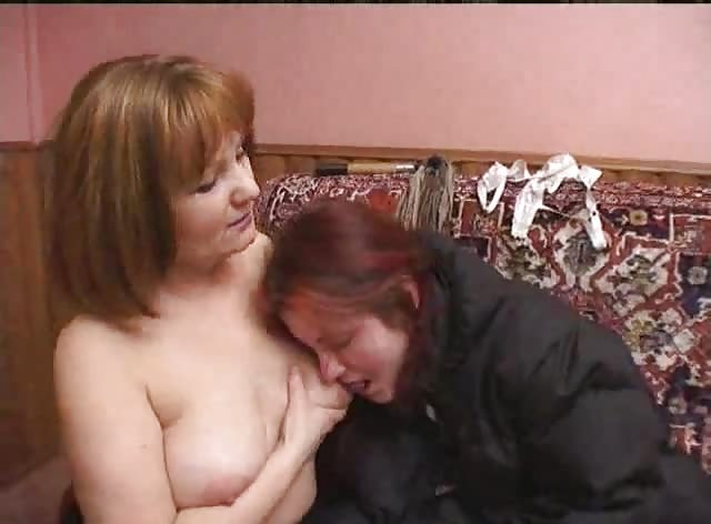 Lesbian Teen and Mom From Russia in Action