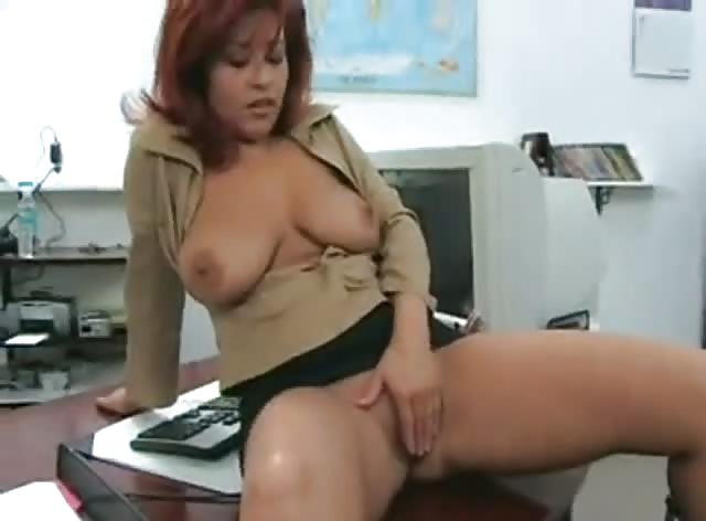 Hot MILF Gets Naked in Her Young Friend's Office