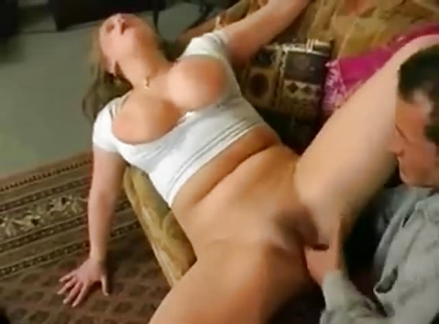 Chubby Girl With Natural Boobs Fucked in All Holes