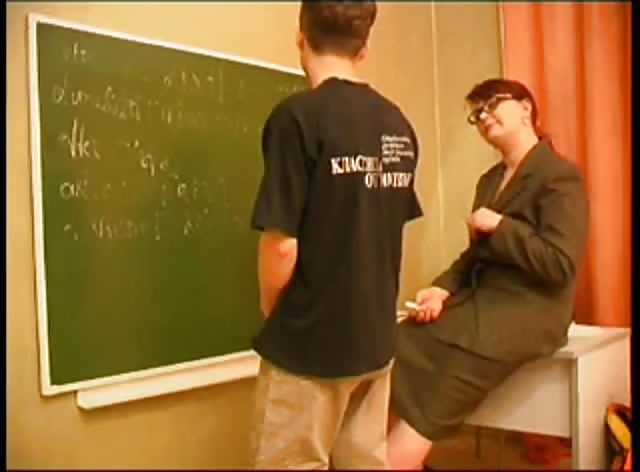 Busty Russian Teacher Seduces and Fucks Her Shy Student