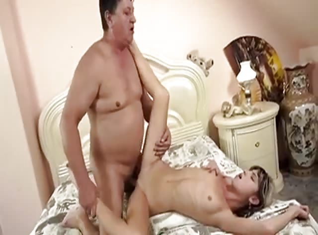 Old Dude Can't Believe He Is Fucking That Sexy Teen Ass