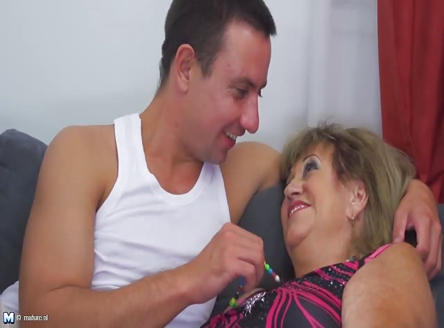 Granny Bitch Always Gets Horny When See Young Cock