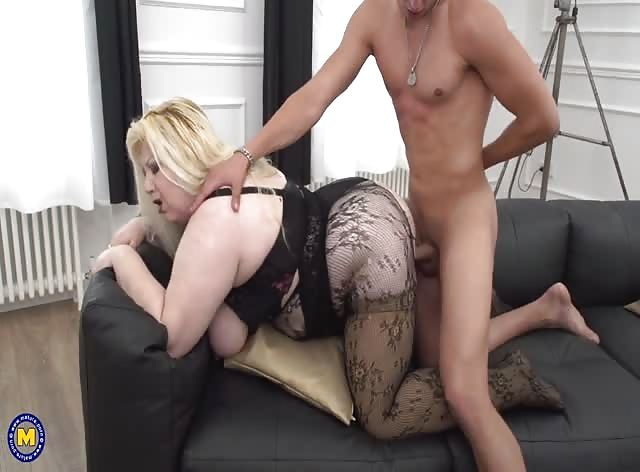 BIG Mom Enjoys the Taste of Young Hard Cock