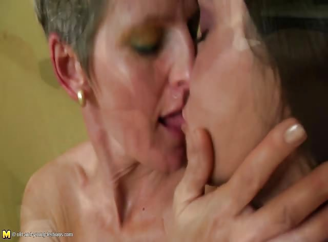 Naughty Old and Young Amateur Lesbian Pussy Lovers in Action