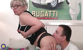 Naughty Mother Taking Real Care of her Step Son