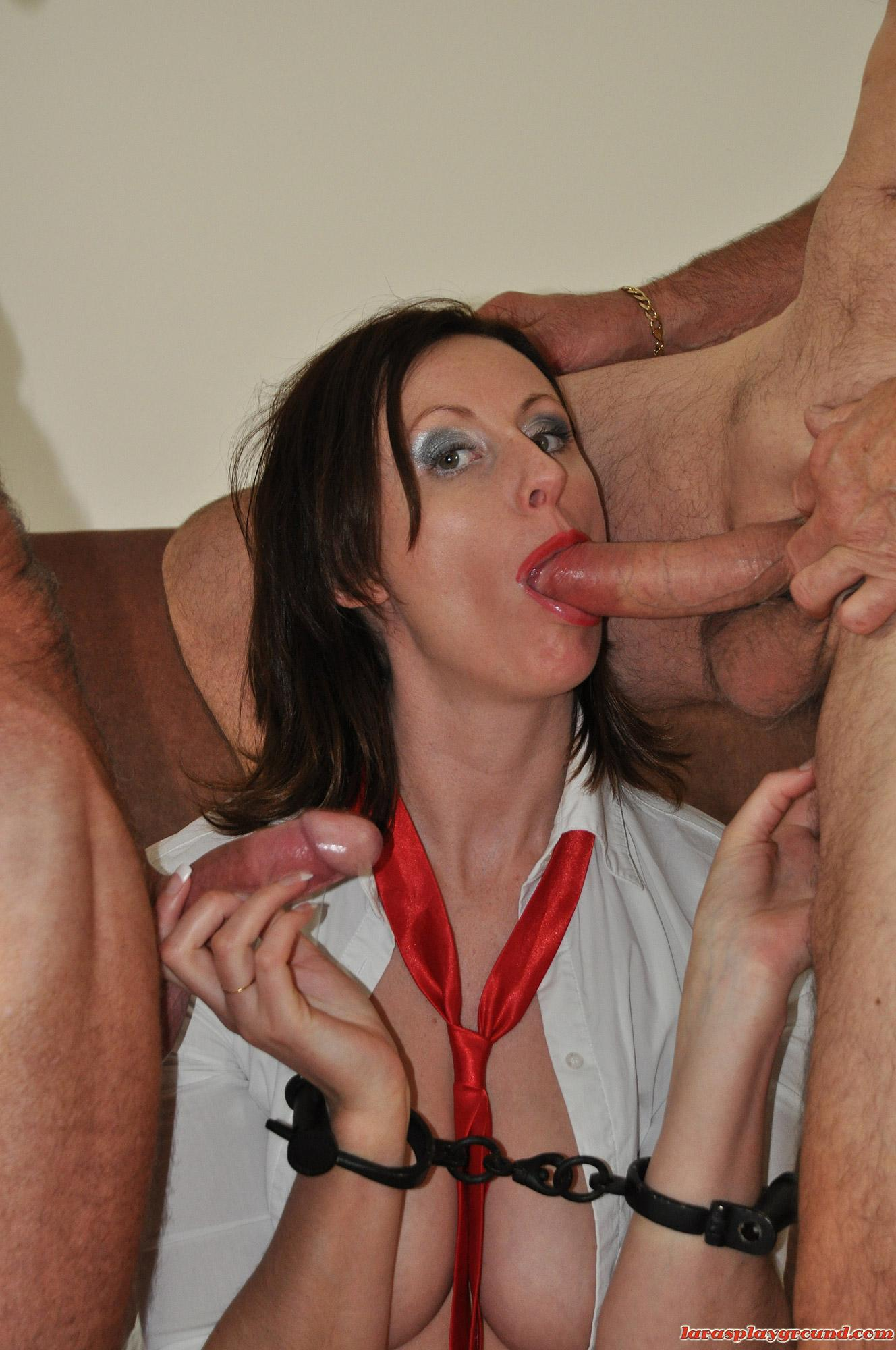 Horny grandpa stuffing babe in school uniform (10/15)