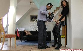 Girl in Latex Boots fcked by older guy