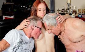 Two Old Cocks Banging Teen Pussy