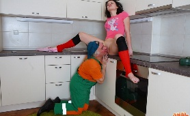 Teen Seduces Him with Pink Outfit