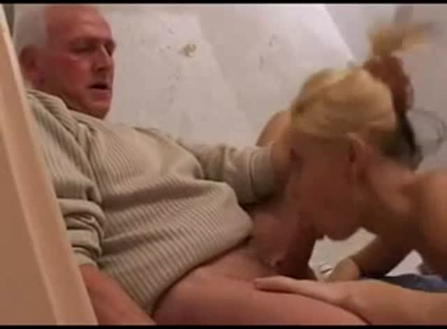 Cute Blonde Teen Old Man