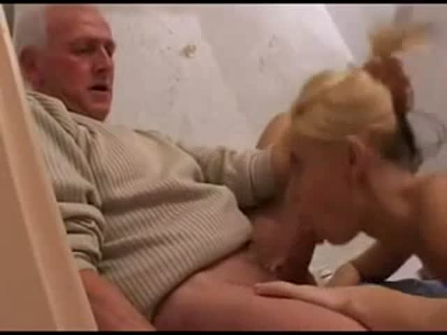 Amateur Teen Blows Old Man