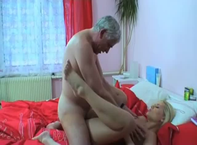 Naughty Blonde Likes Hard Old Dick
