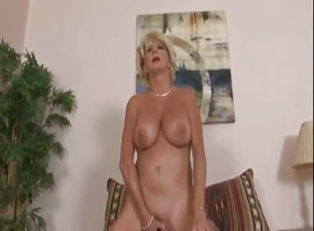 Older Blonde Lady Fucking College Dude