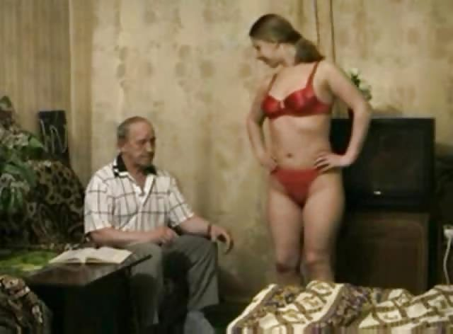 Russian Grandpa Enjoys Fresh Pussy