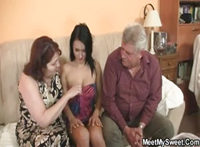 Crazy Old Couple Seducing Sons GF
