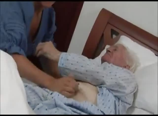 Really Old Grandpa Gets Handjob