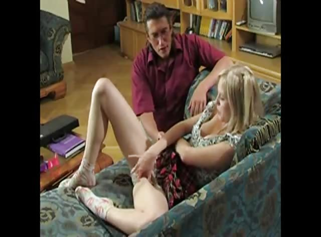 Naughty Teen Blonde Caught Playing with Dildo