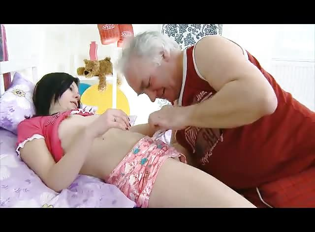Dirty Grandpa Wants to Lick Teen Pussy