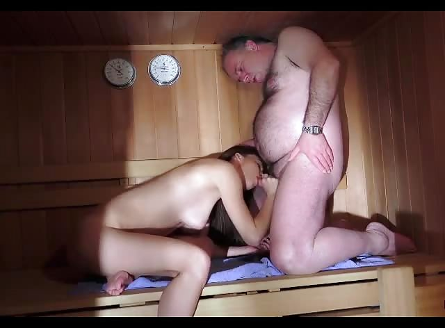 Fucked in Sauna By Not Her Dad