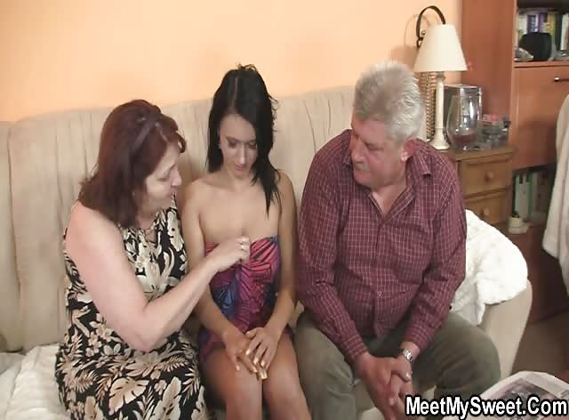 Old Parents Seduced and Fucked Sons New GF