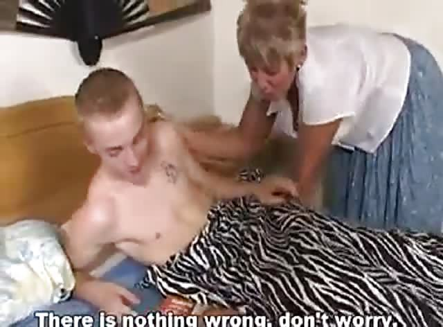 Young Man Caught Jerking by Friends Mom