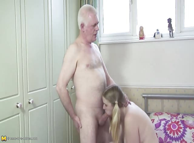 Old Stepdad Cant Resist Fucking Teen Slut