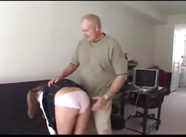 Old Prick Punishes Hot Schoolgirl For Being Naughty