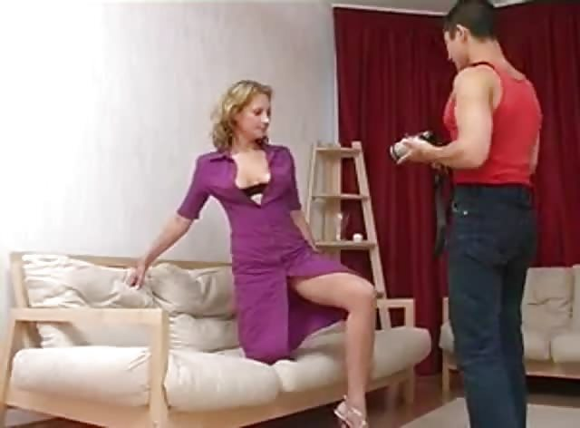 Older Model Fucked by Her Horny Younger Photographer