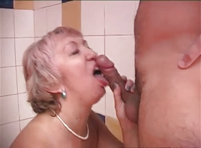 Nice Shower Fuck For a Granny and Her Young Lover