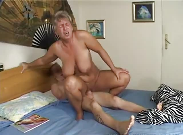 Mature Lady Caught Young Dude Watching Porn Magazines