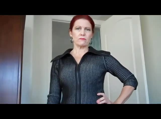 Redhead Stepmom Caught Him Spying On Her