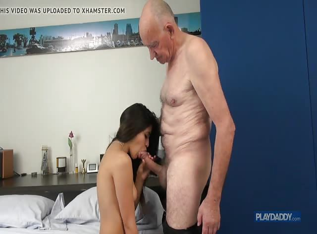 Grandpa's HUGE Cock vs Teen Brunette