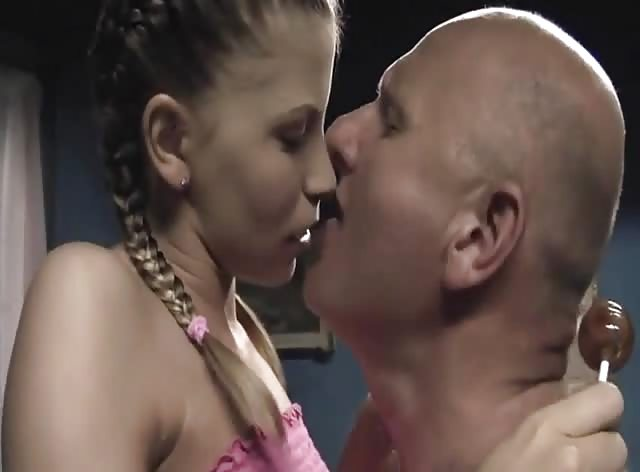 Bald Man Takes Advantage of Naive Teen Babe