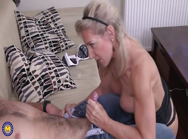 Gorgeous Blonde MILF Having Fun with Her Stepson