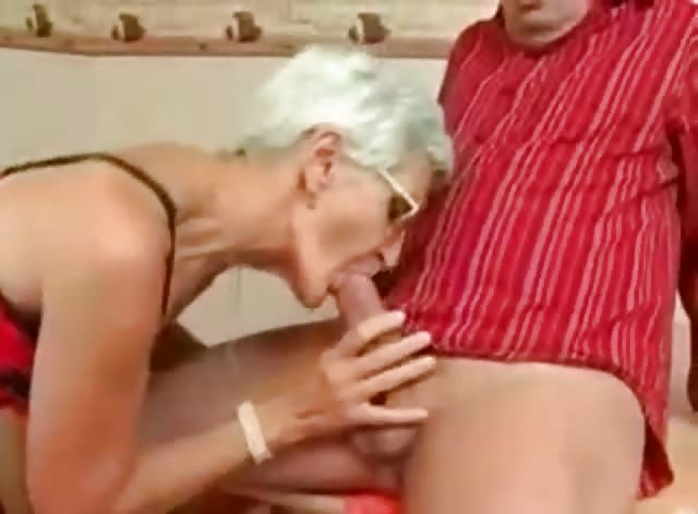 Blonde Granny Still Loves Sucking and Riding Cocks