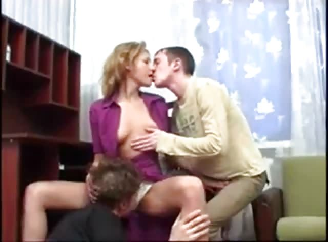 Drunk Russian Guys Taking Advantage of Friends Slutty Mom