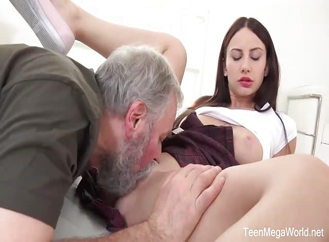 Sweetie Lana Ray  Takes Old Cumload On Tits