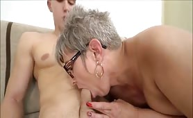 Short Haired Granny Sucks Dick Like Real Expert