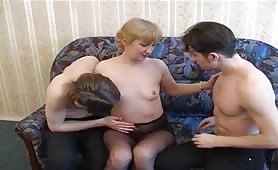 Old Woman And 2 Horny Boys
