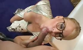Busty Mature Bitch Seduces and Bangs College Guy