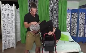 Dirty Hipster Gets Horny and Fucks Poor Old Grandma