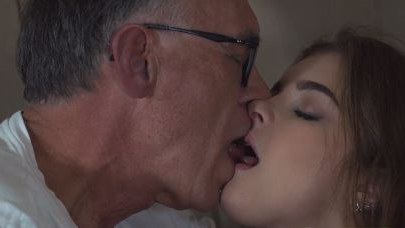 Teen Slut Often Fucking Grandpa From Her Neighborhood In The Attic