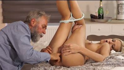 Lusty Blonde Babe Fingered By Her Future Father In Law