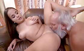 Horny Grandpa Using An Opportunity To Fuck Olivia Nice